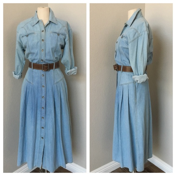 8d707f2ec Liz Claiborne Dresses   Skirts - Liz Claiborne Vintage Denim Maxi Dress